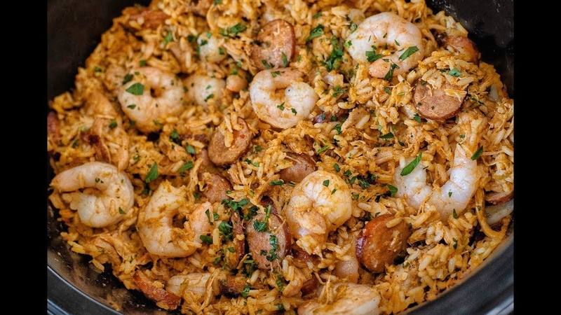HOW TO MAKE THE BEST CROCK POT JAMBALAYA EVER