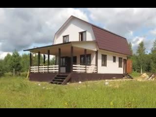 Обзор дома из бруса 7 на 12 метров в пос. Угловка, Новгородская область