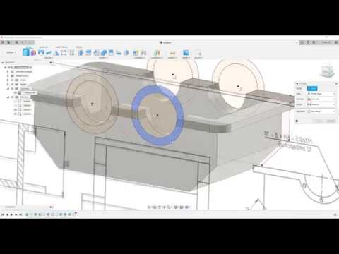 8.1 Корпус редуктора часть 1 во Fusion 360 по чертежу.