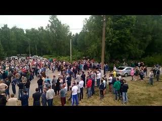 Чемодановка Сход граждан после конфликта