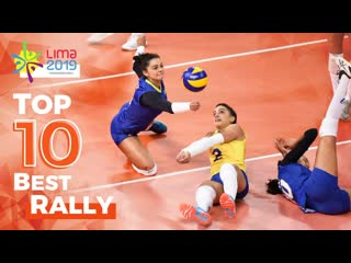 Top 10 best and longest womens volleyball rallies by brazil team pan lima 2019