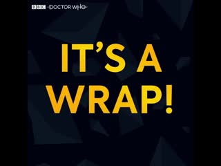 It's a wrap! doctor who series 12