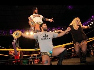 [2/21/2015] Kimber Lee & Annie Social vs. David Starr & JT Dunn w/Rick Cataldo [WSU Wrestling]