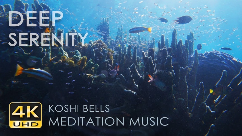 4K Deep Serenity - Koshi Bells - Underwater Sounds - Coral Reef Fish - Relaxation / Meditation Music