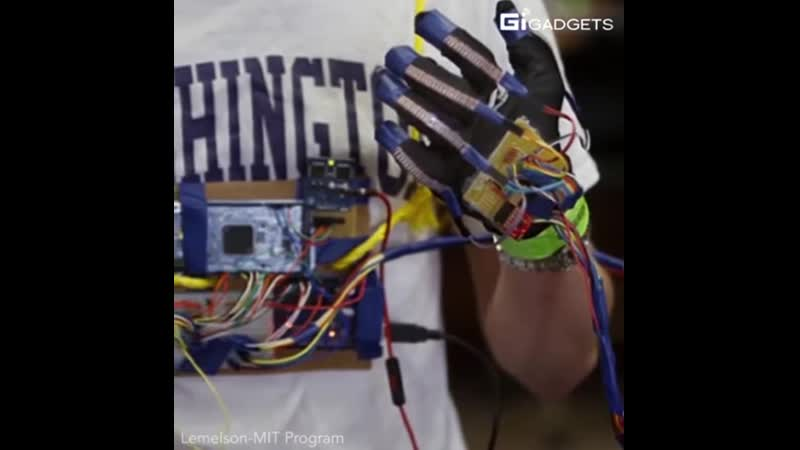 Gloves that can translate sign language into speech text