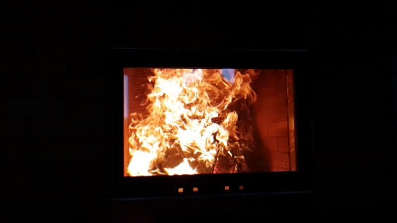 Магия огня в Камине mp4