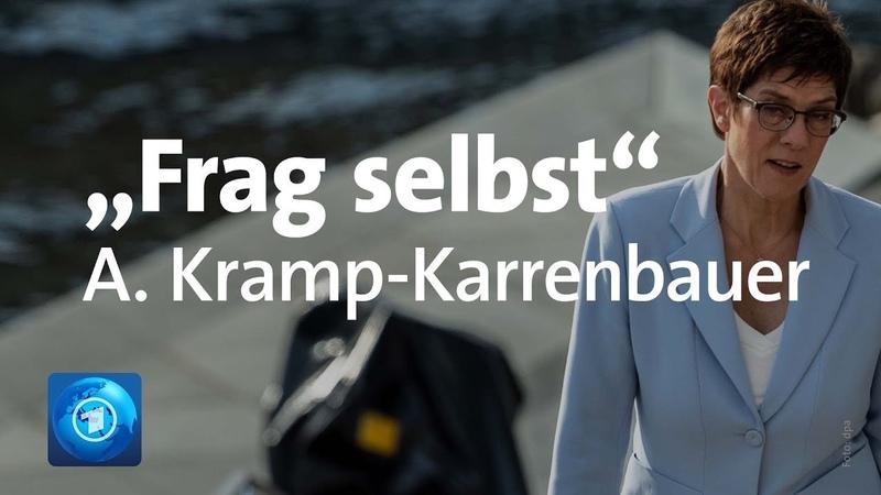 Frag selbst: Sie fragen, Annegret Kramp-Karrenbauer (CDU) antwortet