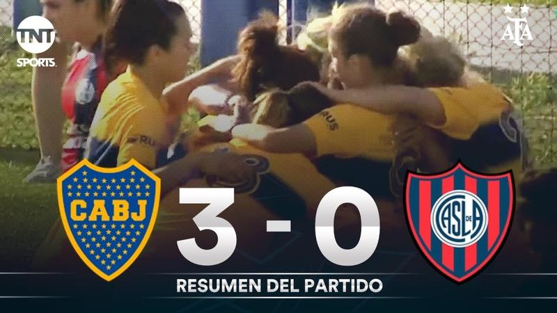 Resumen de Boca Juniors vs San Lorenzo (3-0)   Fecha 5 - Fútbol Femenino AFA