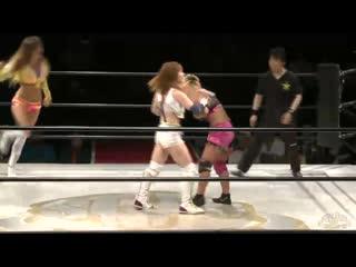 Candy Crush (Chelsea & Kairi Hojo) & Melissa vs. Heisei-gun (Mayu Iwatani & Takumi Iroha) & Reo Hazuki
