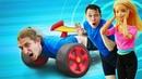 Игры Трансформеры Десептиконы в Аквапарке Спасаем куклу Барби Видео шоу для детей Акватим