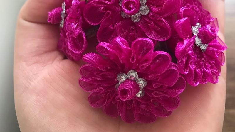 Tatil Biter Siparişlere Devam Kurdeleden Çiçek Yapımı ELİF Tıraş