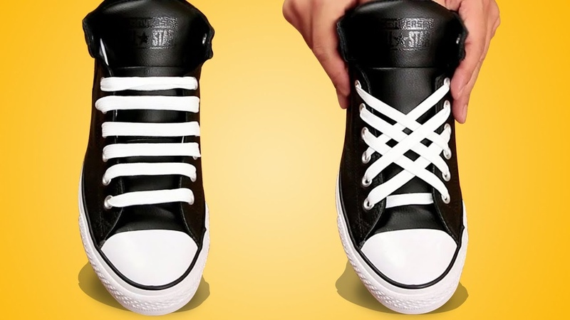 11 Easiest Ways To Tie Shoe Laces LACE YOUR SHOES