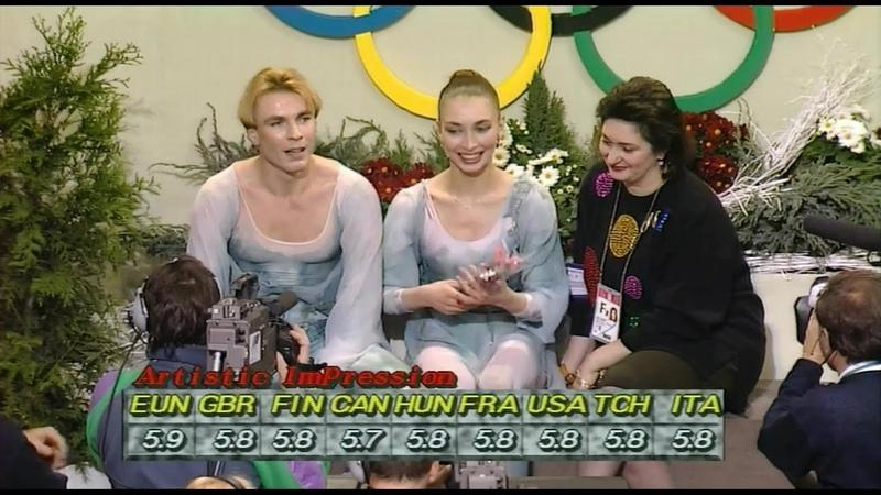 HD Maya Usova and Alexander Zhulin 1992 Albertville Olympic Free Dance Four Seasons