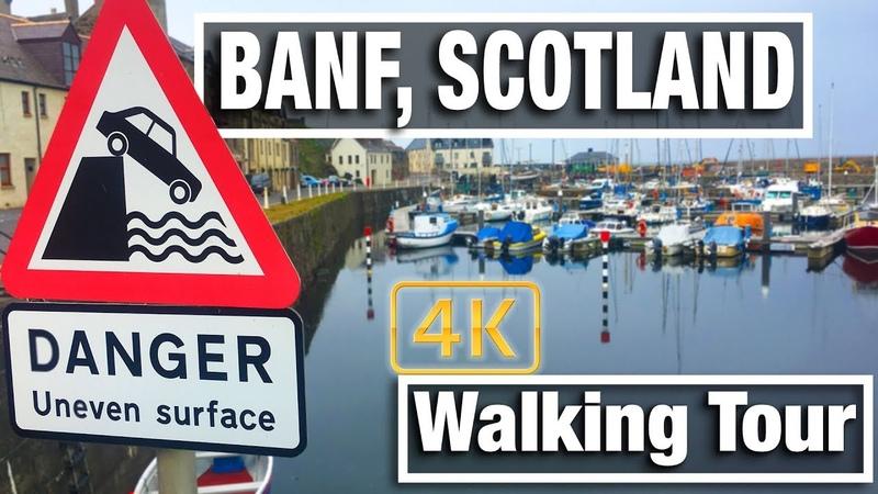 4K City Walks Banff Scotland Virtual Walk and Walking Treadmill Video