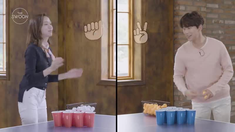The Swoon Юн Хён Мин и Ко Сон Хи сыграли в пинг понг