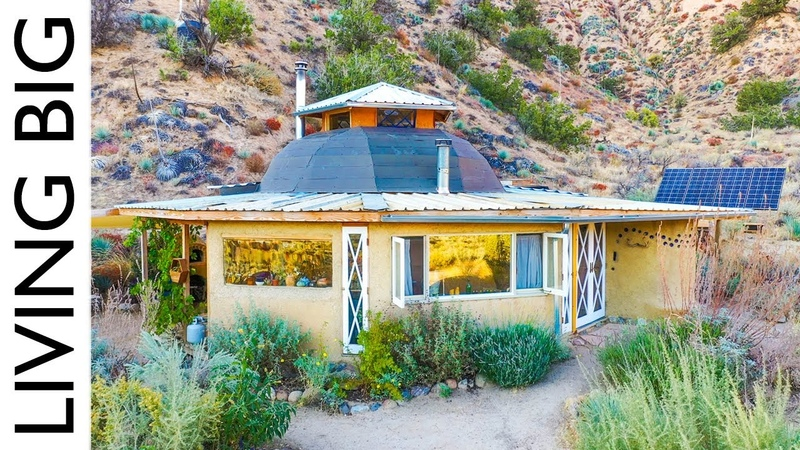 Off The Grid Desert Living in a Tiny Earthen Home Permaculture Community Living Big In A Tiny House