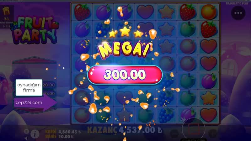 Casino Sarayi - Sweet Bonanza ya veda Yeni Trend FRUIT PARTY - CASİNO OYUNLARI