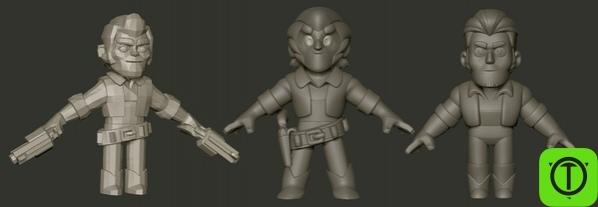Фил, 3D-художник из Supercell, опубликовал альтернативные варианты модели
