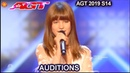 Charlotte Summers 13 yo Singer AWESOME I Put a Spell on You America's Got Talent 2019 Audition