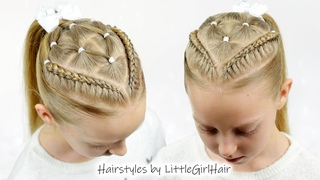 Perfect 2021 Holiday Hair with Rubber Bands | Cute Hairstyles for Little Girls by LittleGirlHair