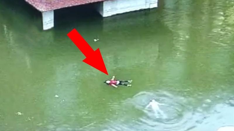 Kinder wurden aus dem Teich gerettet nach einem zweiminütigen Überlebenskampf im Wasser