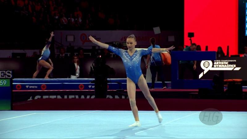 AGAFONOVA Anastasiia (RUS) - 2019 Artistic Worlds, Stuttgart (GER) - Qualifications Floor Exercise