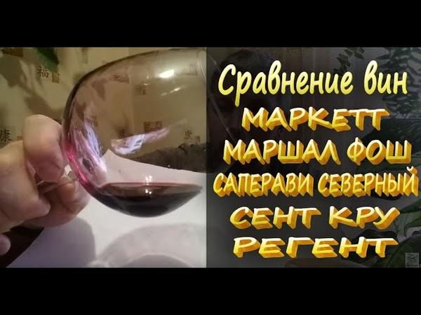 Виноград МАРКЕТТ чем можно заменить? Сравнение вин МАРКЕТТ МАРШАЛ ФОШ САПЕРАВИ С. СЕНТ КРУ РЕГЕНТ