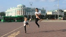 Дуэт папы и дочки со скакалками в Екатеринбурге