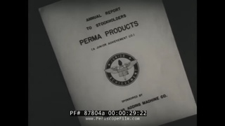 1950s JUNIOR ACHIEVEMENT PROMO FILM STUDENT MANUFACTURE OF PLASTIC CALENDARS 87804a
