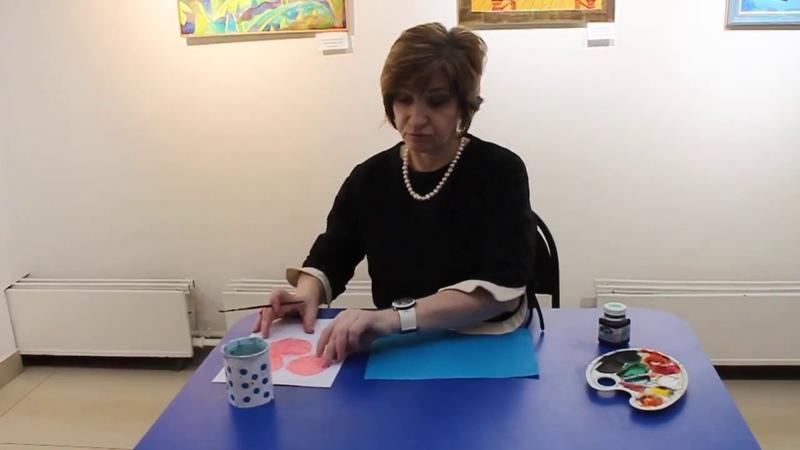 Мастер класс Три березы от педагога музейно выставочного центра Ирины Тарабановой