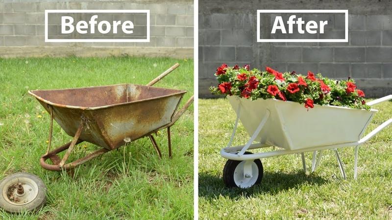Old and Rusty Wheelbarrow Restoration