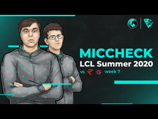 MicCheck CrowCrowd on LCL Summer 2020   Week 7   League of Legends