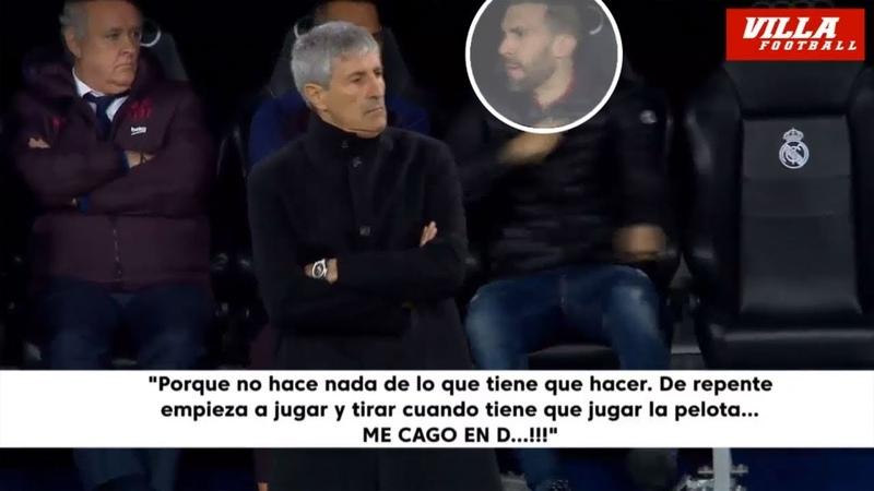 El enfado de Eder Sarabia con sus jugadores en el Clásico