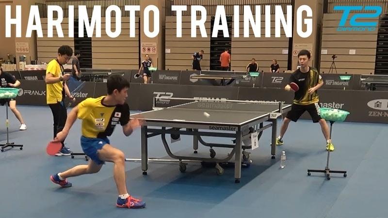 Tomokazu Harimoto Training T2 Diamond 2019 Singapore