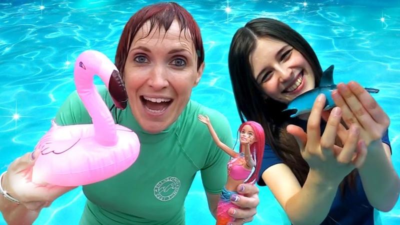 Песня про море в аквапарке Барби Русалка и Маша Капуки