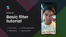 Spark AR tutorial: Create filter effect with Face mesh, Retouching and Lighting Effect