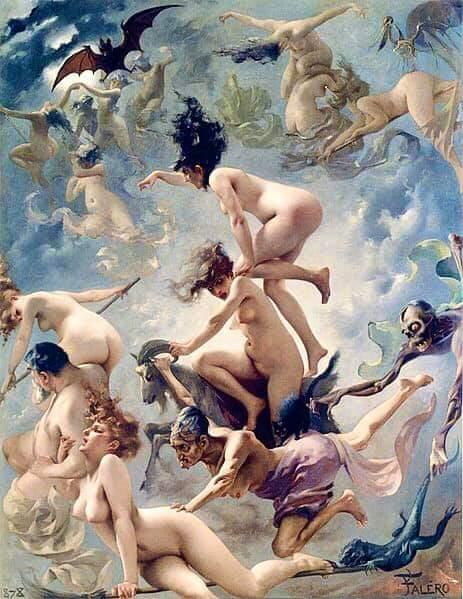 «Ведьмы направляются на Шабаш»(1878), by Luis Ricardo Falero.