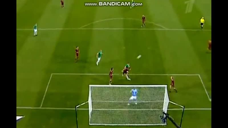 Ireland Russia Q Euro 2012 Aiden Mcgeady Robbie Keane shoots