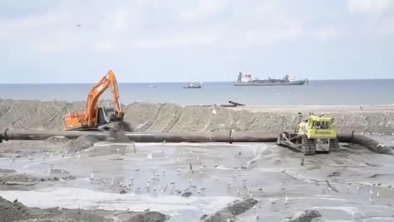 Монтаж трубы под напором воды