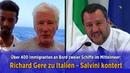 Mittelmeer: Über 400 Migranten an Bord zweier Schiffe - Richard Gere zu Italien - Salvini kontert