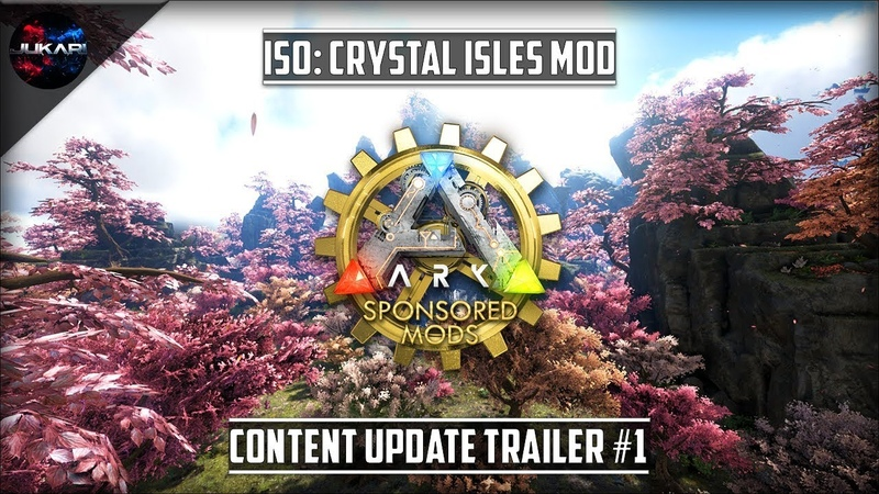 ARK Survival Evolved ISO Crystal Isles Mod Content Update Trailer 1