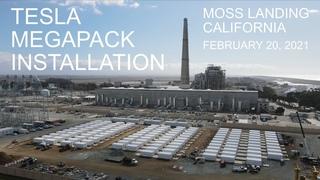 Tesla Megapack Installation Progress   Moss Landing, CA   February 20, 2021