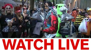 Halloween revelers line up for LIVE with Kelly and Ryan