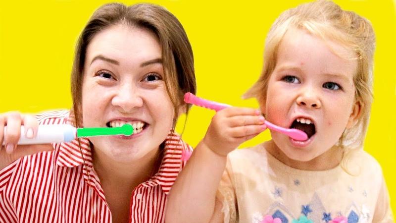 Brush your teeth song nursery rhymes for kids