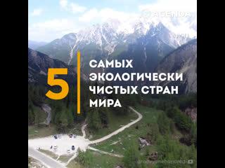 Топ-5 самых экологически чистых стран мира