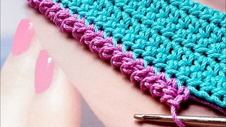 Crochet pattern  обвязка края крючком  strickmuster  knitting hook