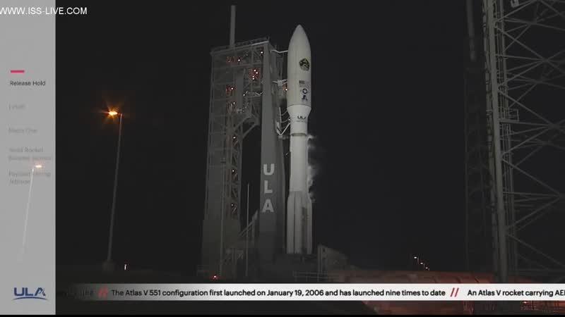 Пуск и вывод на орбиту РН Atlas V с военным спутником AEHF-4