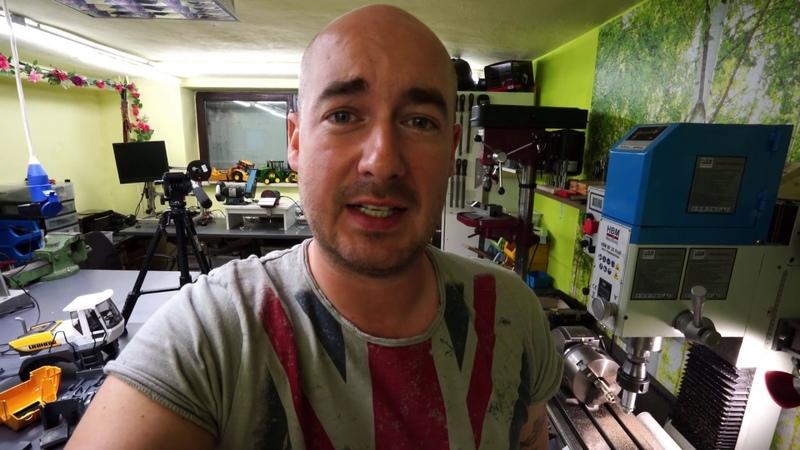 Bruder Radlader RC Umbau Teil 5 Zahnrad fräsen auf dem Teilkopf