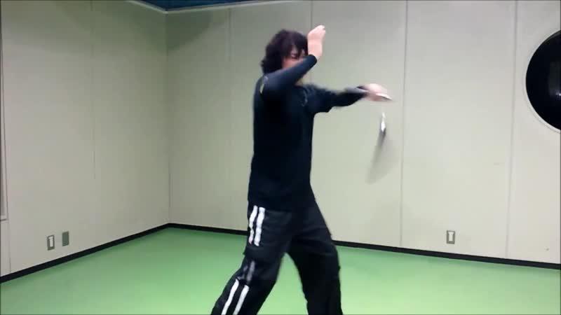Ryoji Okamoto - Nunchaku practice (Basic combination) Technique (part 1)
