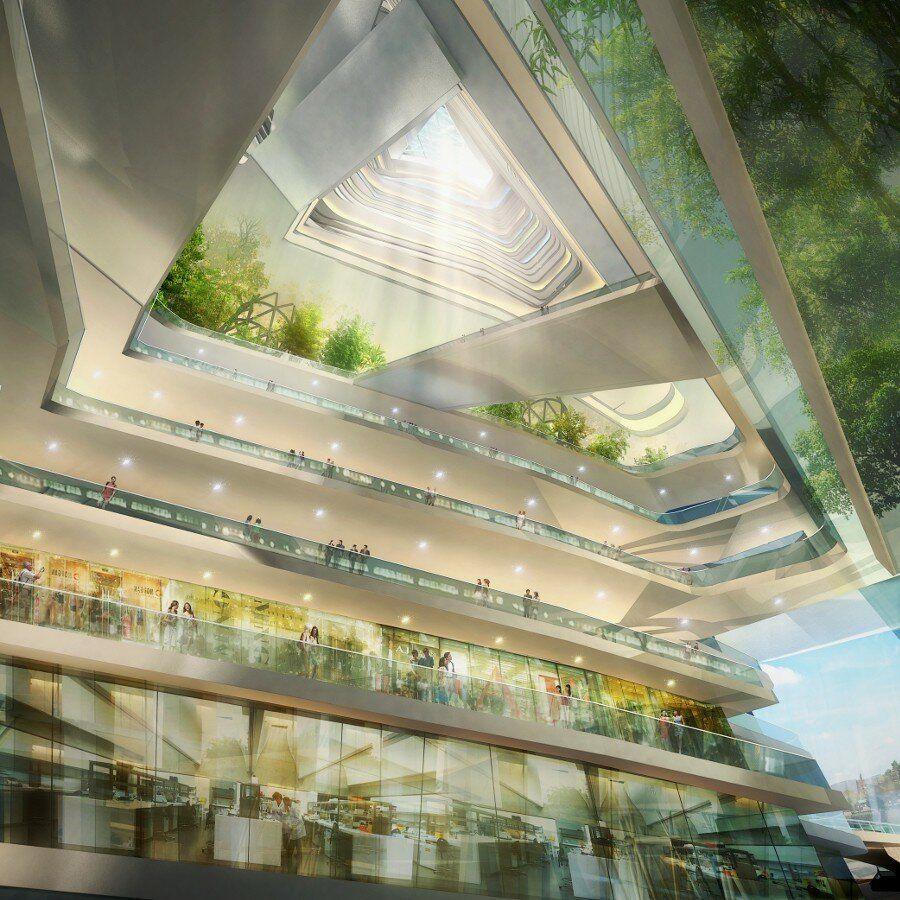 В новом спиральном небоскребе не будет лестниц – только наклонные мостики
